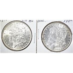 1884-O UNC & 1896 CH BU MORGAN DOLLARS