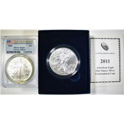 2005 ASE PCGS MS-69 & 2011 UNC ASE BOX/COA