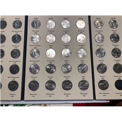 1999 to 2008 40 Coins Fifty States Commemorative Quarters Set in Book