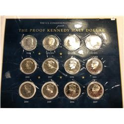 RARE 1964 to 2007 Silver Kennedy Proof Set 12 Coin Collection
