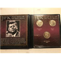 Kennedy 3 Coin Mint Mark Collection PDS in Original Package