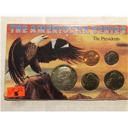 The Americana Series PRESIDENTS 5 Coin Collection in Original Package