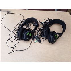 2 Turtle Beach Earforce X12 Gaming Headsets