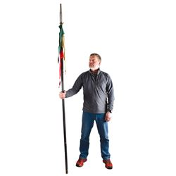 Collection of Four Guidon Poles including one from John Wayne's The Alamo
