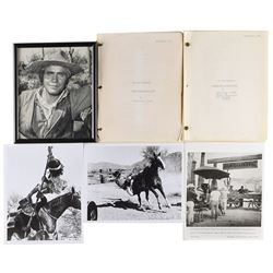 High Chaparral Group: Scripts, Photos, and Signed Mark Slade Photo