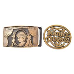 'I Married Wyatt Earp' Belt Buckle Gifted to Shelton From Marie Osmond and Kenny Rogers Buckle