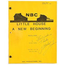 Michael Landon-Signed 'Little House on the Prairie' Script