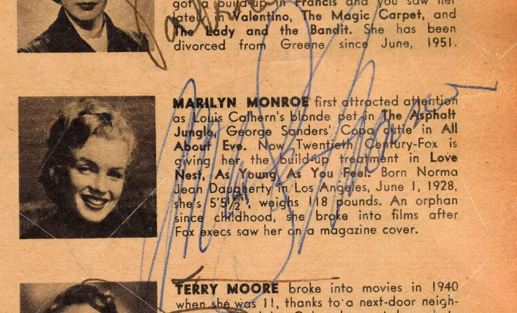 Who's Who in Hollywood Autograph Books: 1952 and 1953