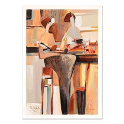 "Yuri Tremler - ""Ladies' Lunch"" Limited Edition Serigraph by Yuri Tremler, Hand Signed with Certifica"