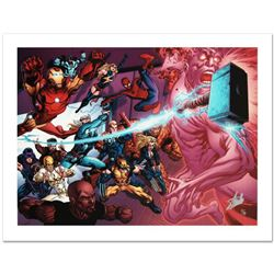 """Avengers Academy #11"" Limited Edition Giclee on Canvas by Tom Raney and Marvel Comics. Numbered and"