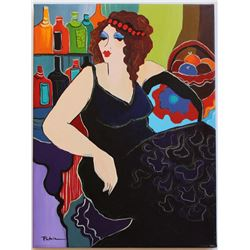 "Patricia Govezensky- Original Acrylic On Canvas ""Roxanne"""