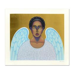 "Nivia Gonzales (1946-2017), ""Angelita"" Limited Edition Serigraph with Gold Leaf, Numbered and Hand S"