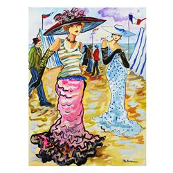 "Patricia Govezensky- Original Watercolor ""French Party"""