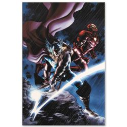 """Thor #80"" Limited Edition Giclee on Canvas by Steve Epting and Marvel Comics, Numbered with Certifi"