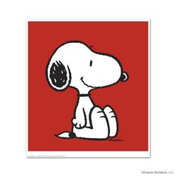 """Snoopy: Red"" Hand Numbered Limited Edition Chromatic Pigment Ink Fine Art Print created from the or"