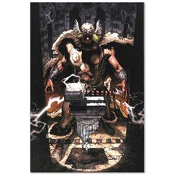 """Thor: For Asgard #6"" Limited Edition Giclee on Canvas by Simone Bianchi and Marvel Comics. Numbered"