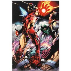 """Iron Man/Thor #2"" Limited Edition Giclee on Canvas by Scot Eaton and Marvel Comics. Numbered with C"
