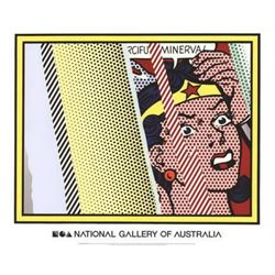 """Roy Lichtenstein """"Reflections on Minerva"""" Offset Lithograph"""