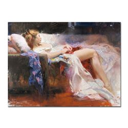 """Pino (1939-2010) - """"Sweet Repose"""" Artist Embellished Limited Edition on Canvas (40"""" x 30""""), AP Numbe"""
