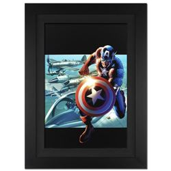 """""""Captain America: Man Out Of Time #2"""" Extremely Limited Edition Giclee on Canvas by Bryan Hitch and"""
