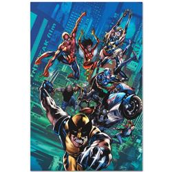 """""""New Avengers Finale #1"""" Limited Edition Giclee on Canvas by Bryan Hitch and Marvel Comics, Numbered"""