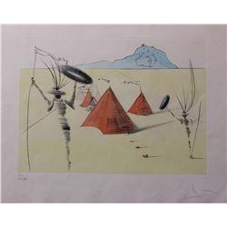 """Salvador Dali- Original Etching with color by stencil """"Gad"""""""