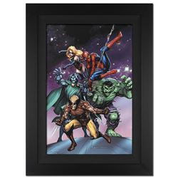 """Avengers and the Infinity Gauntlet #3"" Extremely Limited Edition Giclee on Canvas by Tom Grummett a"