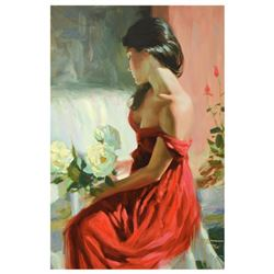 "Vladimir Volegov, ""From a Rose"" Limited Edition Hand Embellished on Canvas, Numbered and Hand Signed"