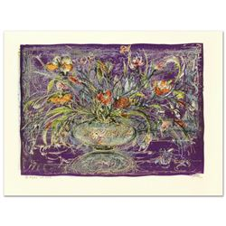 """Floral Mystic"" Limited Edition Lithograph by Edna Hibel (1917-2014), Numbered and Hand Signed with"