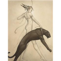 "Michael Parkes ""Goddess of the Hunt"" Masterworks on Paper"
