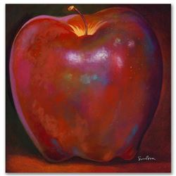 """Apple Wood Reflections"" Limited Edition Giclee on Canvas by Simon Bull, Numbered and Signed with Ce"