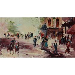"Shalva Phachoshvili- Original Oil on Canvas ""Dressing Formal"""