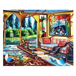 "Alexander Astahov- Original Oil on Canvas ""Good Ambiance"""