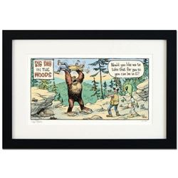 """Bizarro! """"Big Day in the Woods"""" is a Framed Limited Edition Hand Signed by creator Dan Piraro; Numbe"""