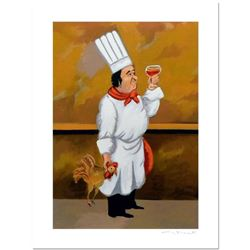 """Guy Buffet - """"Chef Henri"""" Limited Edition Serigraph; Numbered and Hand Signed with Certificate of Au"""