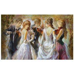 "Lena Sotskova, ""Sunrise"" Hand Signed, Artist Embellished Limited Edition Giclee on Canvas with COA."
