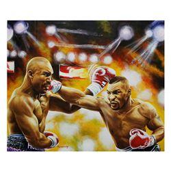 "Turchinsky Dimitry- Original Oil on Canvas ""Tyson VS Holyfield"""