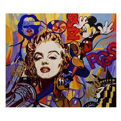 "Nastya Rovenskaya- Original Oil on Canvas ""Monroe Loves Disney"""