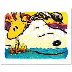 """""""Bora Bora Boogie Bored"""" Limited Edition Hand Pulled Original Lithograph by Renowned Charles Schulz"""