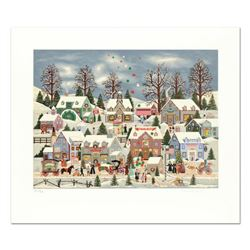 """Jane Wooster Scott - """"Seeking Holiday Treasures"""" Limited Edition Serigraph, Hand Signed with Certifi"""