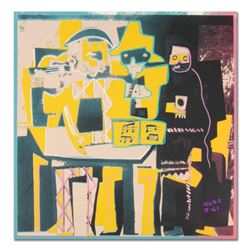 "Ringo, ""Three Musicians (Picasso Homage)"" One-of-a-Kind Hand-Pulled Silkscreen and Mixed Media Paint"