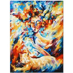 "Leonid Afremov ""Night Cap"" Limited Edition Giclee on Canvas, Numbered and Signed; Certificate of Aut"