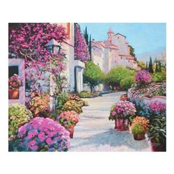 """Howard Behrens (1933-2014), """"Blissful Burgundy"""" Limited Edition on Canvas, Numbered and Signed with"""