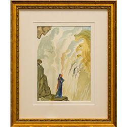 "Salvador Dali- Original Color Woodcut on B.F.K. Rives Paper ""Purgatory 12"""