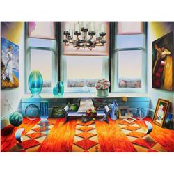 """Ferjo """"City View"""" Giclee on Canvas"""