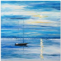 """Leonid Afremov """"Far from Shore"""" Limited Edition Giclee on Canvas, Numbered and Signed; Certificate o"""