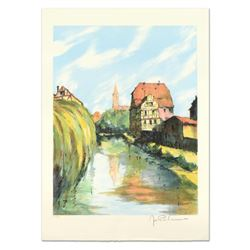 """Laurant - """"Village Breton"""" Limited Edition Lithograph, Numbered and Hand Signed."""