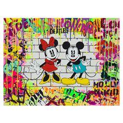 "Nastya Rovenskaya- Original Oil on Canvas ""Mickey & Minnie"""