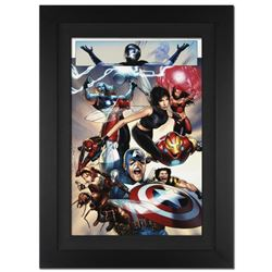 """""""Ultimate Fantastic Four #26"""" Extremely Limited Edition Giclee on Canvas (25"""" x 34"""") by Greg Land an"""
