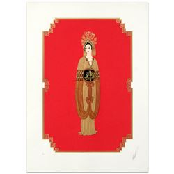 """Erte (1892-1990), """"Plum Blossom"""" Limited Edition Serigraph, Numbered and Hand Signed with Certificat"""